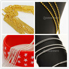 2.8m gold/silver Metal Beads Line Chain Nail Art Tips 3D Design Decoration Craft
