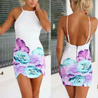 Women Sexy Floral Party Cocktail Evening Bandage Bodycon Short Mini Dress White