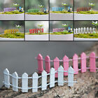 Miniature Wooden Palisade Fence Ornament Plant Pot FairyGarden Scenery DIY Decor