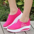 NEW Womens Summer Breathable Mesh Sport Sneakers Platform Athletic Running Shoes