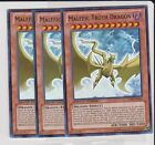 Lot of (3) Malefic Truth Dragon CT09-EN016 LE Super rares in NM condition