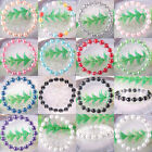 """Mixed Free Shipping White Black 8MM Pearl Beads Stretch Pearl Bracelet 7"""" 1Pcs"""