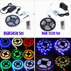 5M 12V SMD 3528/5050 RGB 300 LED Strip Light Flexible Waterproof Connector Power