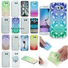 For Samsung Phone Painted Fashion Ultra Slim Clear Soft TPU Skin Back Case Cover