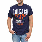 Men's Navy Chicago Bears Coin Toss 2-Hit T-Shirt
