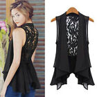 Summer Sexy Women Chiffon Lace Tank Tops Shirt Dress Sleeveless Cardigan Vest
