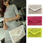2015 New Women Vintage Gold Envelope Clutch Chain Handbag Tote Shoulder Bag - CB