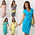 Pregnant Women Maternity V Neck Short Sleeve Casual Dress Summer  Dresses