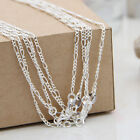 """5/10Pcs Silver Plated Fashion Trace Chain Necklace Fit Pendant Jewellery 16-30"""""""