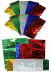Party Gift Bag Large Holographic Christmas Present Carrier Paper Bags 5 Colours