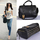 High Quality Ladies Shoulder Briefcase Diagonal Rivet Handbag Cross Body Handbag