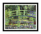 Framed Art Claude Monet Water Lilies and Japanese Bridge Painting Reproduction
