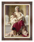 Framed Art Print on Canvas Charity by William Bouguereau Painting Reproduction