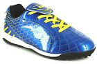 New Boys/Childrens Navy/Yellow Patent Pu Astro Shoes/Trainers UK SIZES