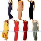 Womens Sexy Summer Casual Sleeveless Stretch Vest Tank Maxi Long Dress Sundress