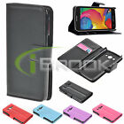 Luxury PU Leather Card Wallet Stand Case Cover For Samsung Galaxy Avant G386T