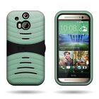 For HTC One (M8) / M8 for Windows - Tough Dual Layer Hybrid Phone Cover Case
