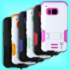 For HTC One M9 Case - Protective Hard & Soft Protective Kickstand Phone Cover