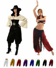 RENAISSANCE DRESS-UP BELLYDANCE HALLOWEEN PIRATE COSTUME GYPSY GENIE HAREM PANTS