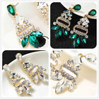 New Design Woman's White/Green Crystal Bling Rainbow Stud Drop/Dangle Earrings