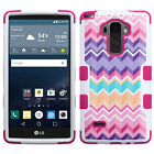 For LG Leon C40 Rubber IMPACT TUFF HYBRID Case Skin Phone Cover Accessory