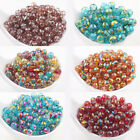 Lots 20/50Pcs Charms Spun Gold Glass Round Loose Spacers Beads Finding DIY 6/8mm