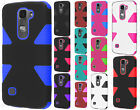 For LG Escape 2 IMPACT TUFF HYBRID Protector Case Skin Covers +Screen Protector
