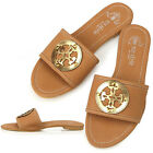 New Lovely Womens Comfort Flats Shoes Brown Slippers Sandals