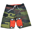 Domo Kun Camouflage Camo Swimming Trunks Board Shorts Bathing Suits Mens