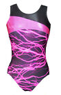 *Lightning* Girls Gymnastics leotard - Mystique/Hot-Pink - 28,30,32,34,36 & 38