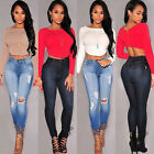 Ebay Hot Women Zip Back Tops Blouses Bodycon Stretch Cropped Tops Tee Tank Shirt