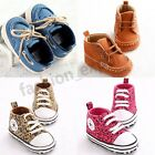 Elegant Baby Boy Girl Crib Casual Shoe Non-slip Lace-up Sneaker Boot 3 Size #14U