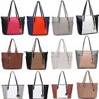 Women's Ladies Designer Celebrity Tote Bag Leather Style Large Shoulder Handbags