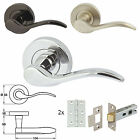 6 x Pairs of Sywell Sprung Lever Internal Rose Door Handles & Mortice Latch