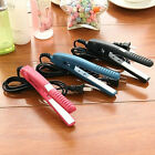 Mini fanshion Portable Ceramic Hair Curl Straightener Flat Iron Perm Splint