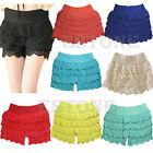 Crochet Tiered Mini Lace Short Skirt Shorts Cotton Super Cute Under Safety Pants
