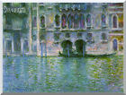 Stretched Canvas Art Print Venice Palazzo da Mula by Claude Monet Painting Repro