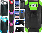 At&t Samsung Galaxy S6 Active TurboHYBRID KICKSTAND Rubber Case +Screen Guard