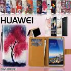 Flip Wallet Card Stand PU Leather Case Cover For Various Huawei Ascend Phones