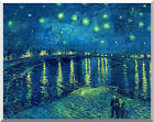 Starry Night over the Rhone River by Vincent van Gogh Repro Stretched Art Print