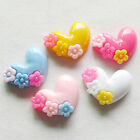30/150pcs Mix Lots Love Heart Resin Flatbacks Flat Back Button Craft B0423