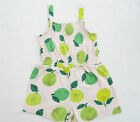 Girls Toddler New Fruit Print Playsuit Summer Kids Shorts Hoilday Casual 12m-6y