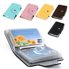 Men's 24 Cards Slim PU Leather ID Credit Card Holder Pocket Case Purse Wallet image