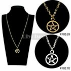 Inverted Pentacle Pentagram Star Pendant Necklace Cheap Jewelry Free Shipping