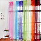 Window Curtain Drape Panel Scarf Valances Sheer Voile Room Divider Screen Door