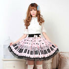 LOLITA GOTHIC PINK PIANO MEMORY LACE SKIRT S-XL