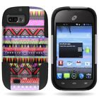 For ZTE Fury N850 / Valet Z665C / Director Rigid Hybrid Heavy Duty Cover Case
