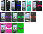 Kickstand Dual Soft Hard Hybrid Cover Phone Case For ZTE Lever Z936L LTE