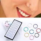 Wholesale 40pcs 1 Box Stainless Steel Nose Studs Ring Hoop Body Piercing Jewelry