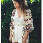 Hot Women Floral Print Kimono Cardigan Blouse Summer Bohemia Chiffon Tops New